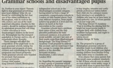 Headmaster Richard Russell in The Times